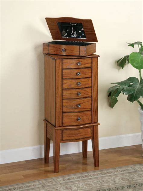powell woodland oak jewelry armoire powell woodland oak jewelry armoire with lift off jewelry box pw soapp culture