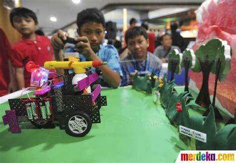sekolah membuat robot di jakarta foto antusiasme anak ikuti lomba robot di bppt merdeka com