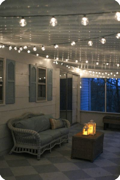 string lights for screened porch a gorgeous porch light solution lovely etc