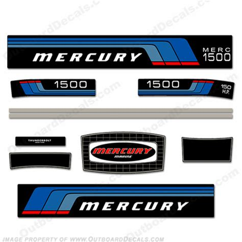 Yamaha 4hp Sticker by Mercury 1977 150hp Outboard Engine Decals