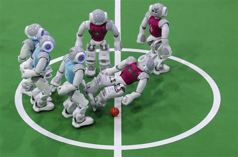 Dribling Robot Soccer Robot robocup open football soccer tournament 2014 in magdeburg germany metro uk