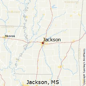 jackson ms map best places to live in jackson mississippi