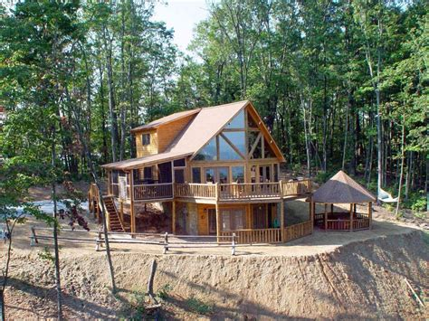 luxurious secluded cabin with gazebo vrbo