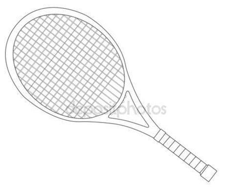 Racket Outline by Tennis Racket Outline Stock Vector 169 Bigalbaloo 44545889
