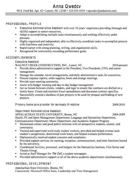 Chronological Resume Sle Administrative Assistant 7 best resume stuff images on resume format sle resume and cv format