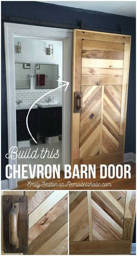 How To Make A Barn Door How To Build A Wood Chevron Barn Door Remodelaholic Bloglovin