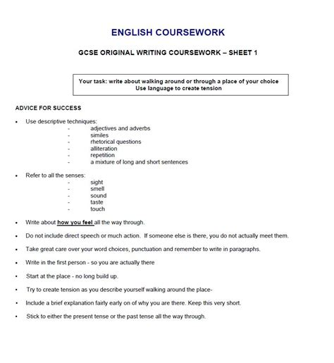 Coursework Essay by Igcse Coursework Help Ssays For Sale