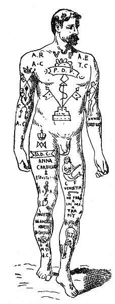 19th century tattoos the victorian and camorra in naples 19th century b w