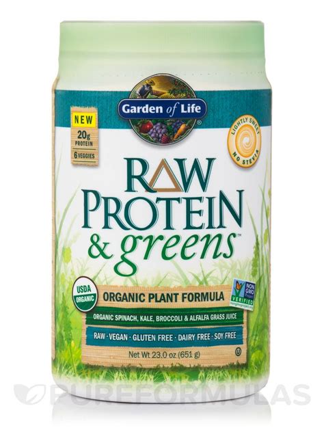 Garden Of Lightly Sweet Protein And Greens Lightly Sweet 23 Oz 651 Grams