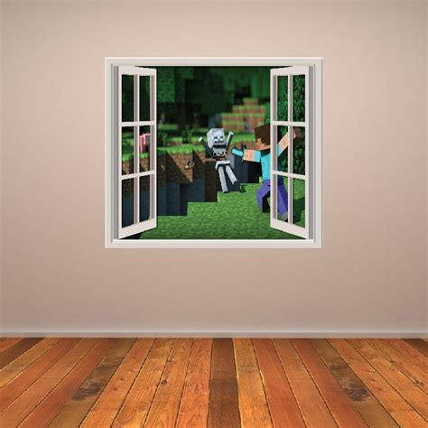gaming home decor minecraft battle wall sticker window wall decal