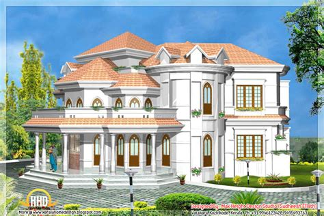 House Models And Plans 5 Kerala Style House 3d Models Kerala Home Design And