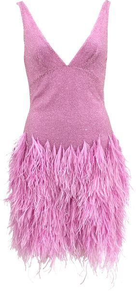 beaded feather dress naeem khan sleeveless v neck beaded feather dress in