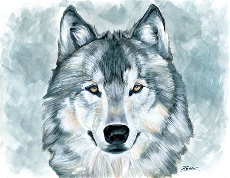 wolf painting wolf painting by edroeder on deviantart