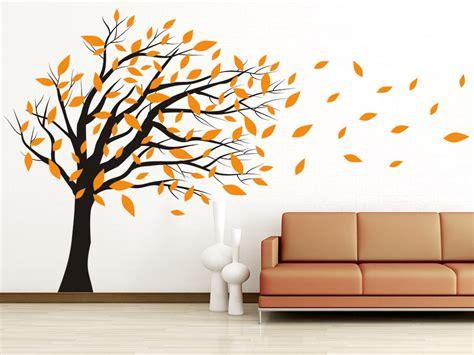 Baum An Die Wand Malen by Wandtattoo Baum Im Wind Wandtattoo De
