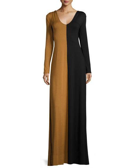 Two Tone Sleeve Dress pally sleeve two tone maxi dress