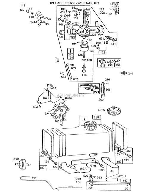briggs and stratton fuel diagram briggs and stratton 193707 0351 01 parts diagram for