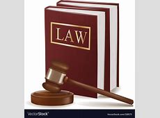 Judge gavel and law books Royalty Free Vector Image Law Books Images