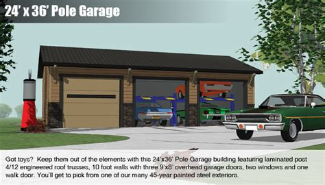 24x36 Garage by Pole Buildings Mead Lumber And Knecht Home Center