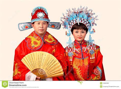 Braut Und Br Utigam by Chinesische Braut Und Br 228 Utigam Stockfoto Bild