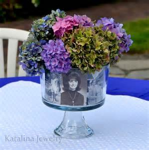 photo centerpieces katalina jewelry easy personalized photo foral centerpiece