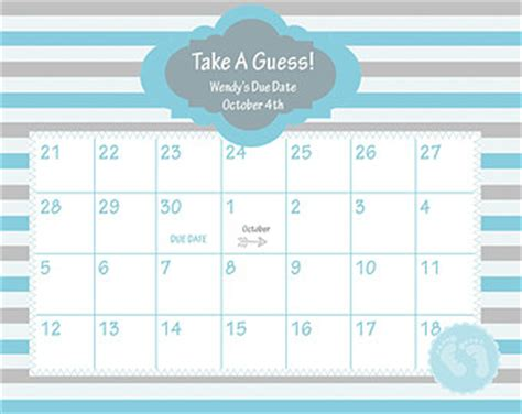 baby calendar template best photos of baby calendar due date printable