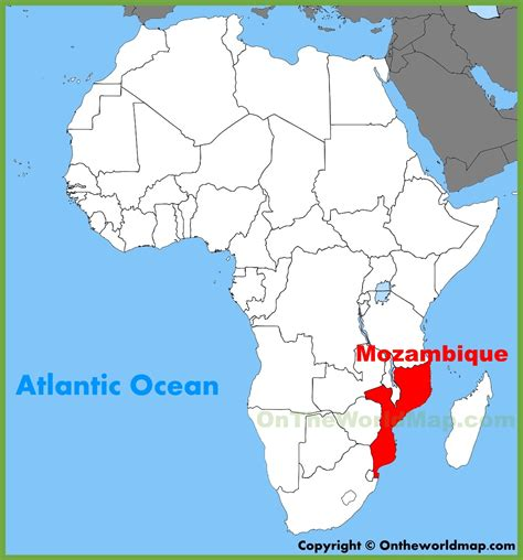 africa map mozambique mozambique location on the africa map
