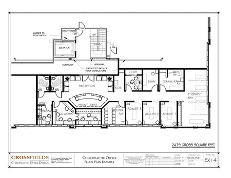 exle of a floor plan chiropractic clinic floor plans