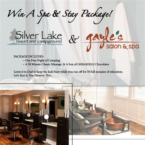 Spa Sweepstakes - win spa stay giveaway to silver lake resort grkids com