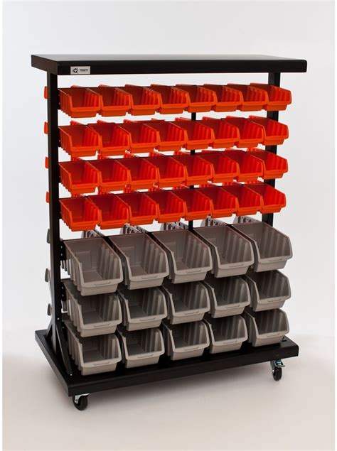 Rak Organizer Mobil mobile bin rack rolling storage organizer drawers garage craft tools shop home ebay
