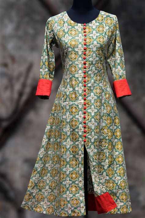 new pattern long kurti printed salwar kameez latest kurti girls designs http