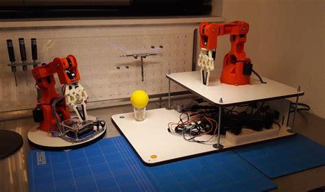 project pidesk a raspberry pi controlled futuristic arduino braccio robot arm raspberry pi controlled with
