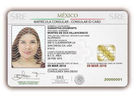 mexican id card template matr 237 cula consular