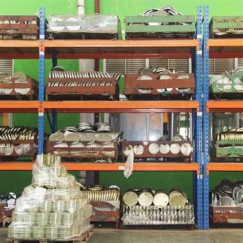 industrial heavy duty storage shelves  wood board