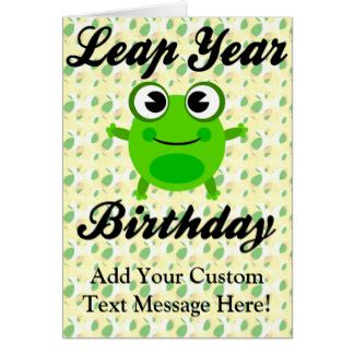 leap year birthday card template leap year birthday cards greeting photo cards zazzle
