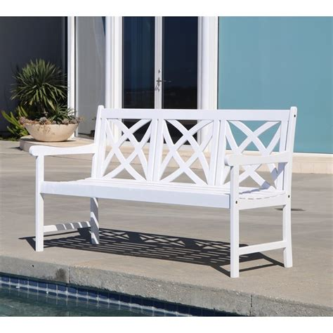 outdoor bench white outdoor bench in white v1612