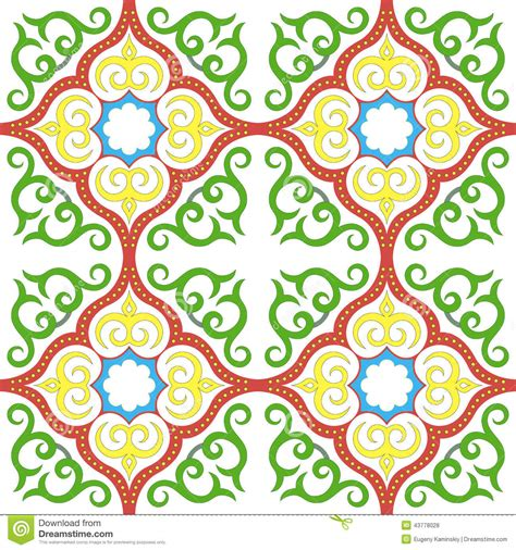 Motif Flower Hijau by Islamic Floral Pattern Motif Stock Vector Image 43778028