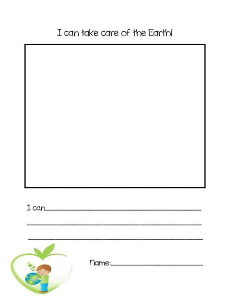 earth day writing paper literacy minute earth day writing freebie