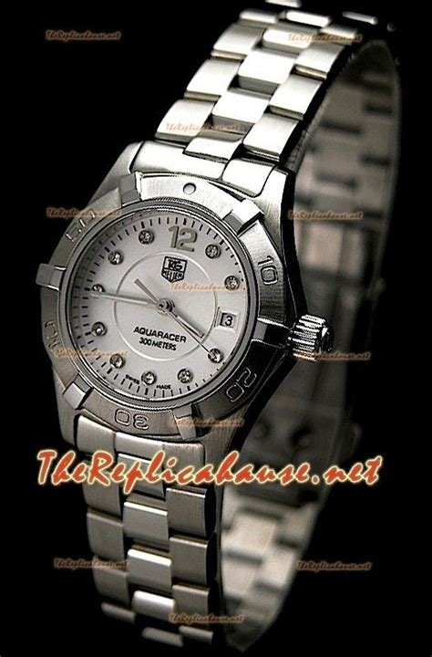 Tag Heuer Aquaracer 300m Swiss Clone 1 1 1 tag heuer aquaracer swiss quartz in diamonds markers at a discounted price at just 399