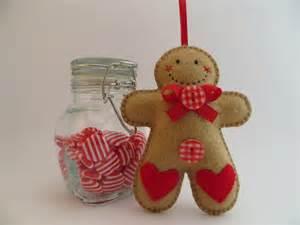 felt gingerbread man ornament joybelles felt