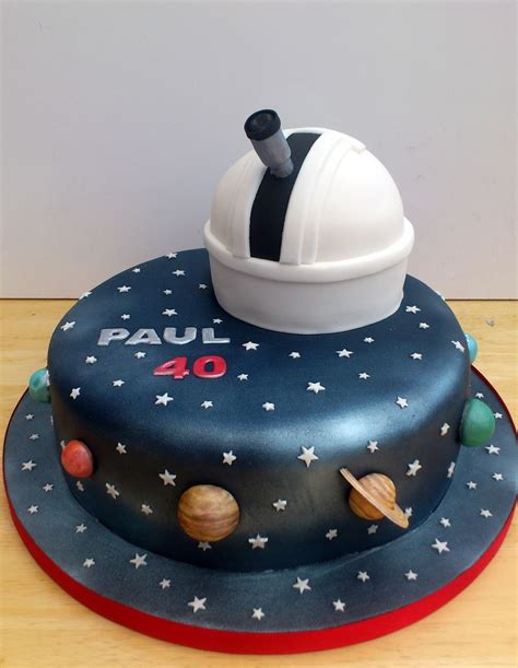 Solar Christmas Decorations Astronomy Themed Novelty Cake With Observatory 171 Susie S Cakes