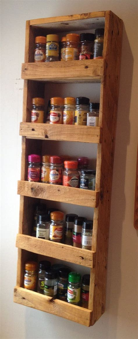 25 best ideas about pallet spice rack on