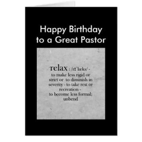 Pastor Birthday Card Pastor Funny Gifts On Zazzle