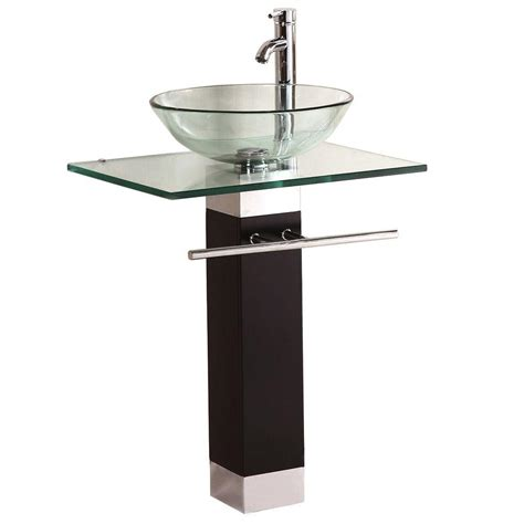 pictures of pedestal sinks in bathroom kokols pedestal combo bathroom sink in clear wf 09 the