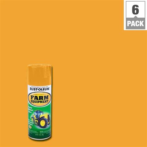 rust oleum specialty  oz farm equipment caterpillar yellow gloss enamel spray paint  pack
