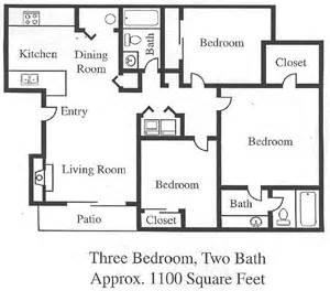 3 bedroom 2 bath apartments 3 bedroom open floor plan