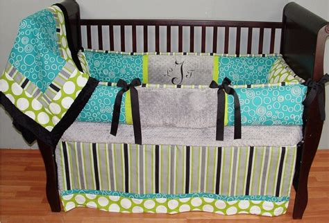 The Cute Of Polka Dot Baby Bedding For Your Nursery Room Green Baby Cribs