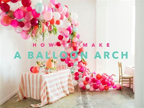 how to create a beautiful balloon arch youtube