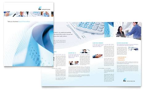 accounting flyer templates accounting firm brochure template design