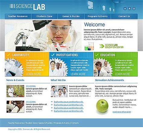Science Lab Html Website Template Best Website Templates Laboratory Website Templates