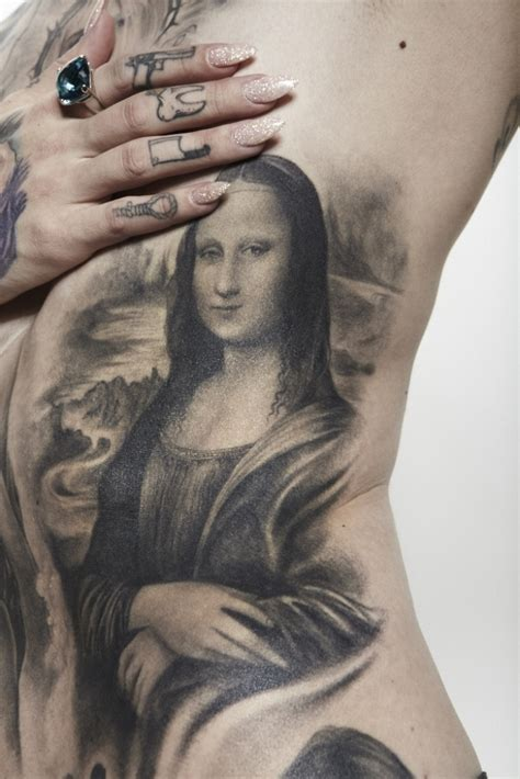 mona lisa tattoo the in addition to beautiful d with